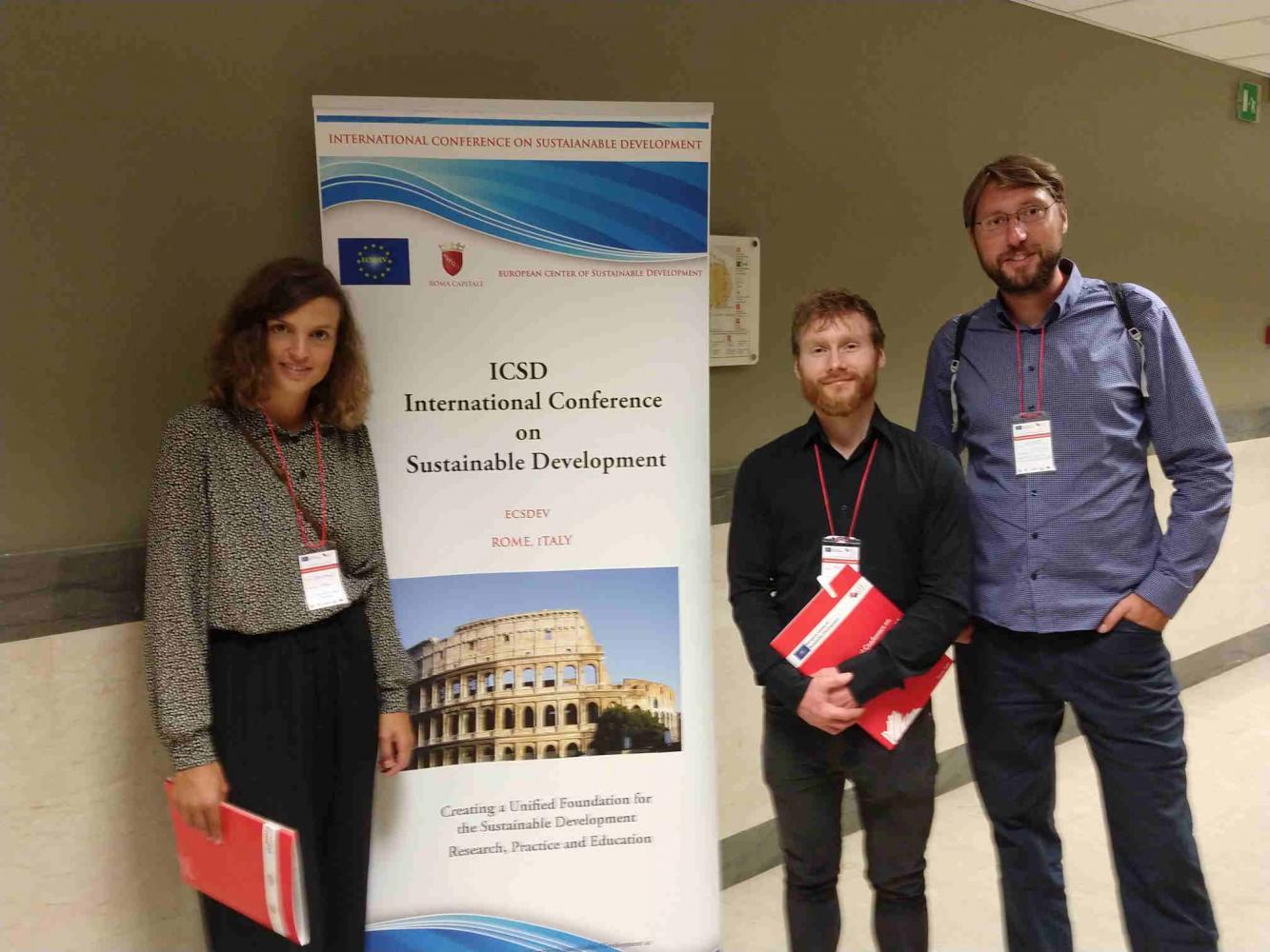 Projektmitarbeiter auf der ICSD 2019