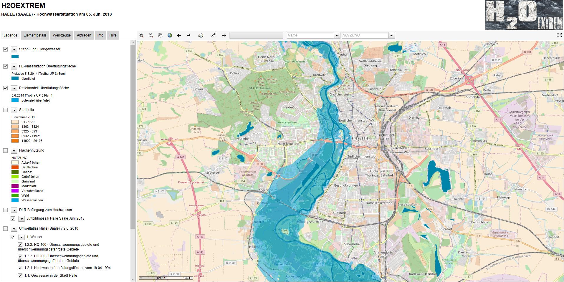 Halle Saale Karte.Jahrhunderthochwasser Halle Saale 2013 Klimaanpassung